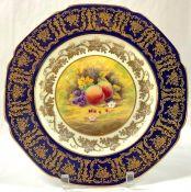 Paragon Bone China Golden Harvest Pattern Cabinet Plate, Circa 1950s