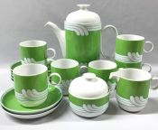 """Rosenthal Studio-Linie/Line """"Duo Exotic Green"""" Porcelain Coffee Service"""