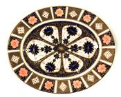 Royal Crown Derby Old Imari Oval Platter, Made In England, Circa 1929