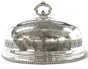 Victorian Silver Plate Meat Dome Made By Roberts & Belk, Circa 1880