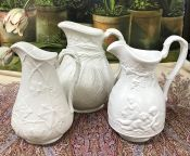 Victorian and Vintage White Jugs