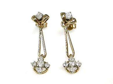 Vintage Diamond Drop Earrings