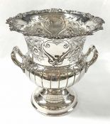 Vintage English Cavendish Hand Casted Silver Plate Champagne Cooler