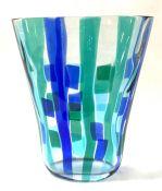 Vintage Fulvio Bianconi Pezzato Glass Vase, Designed For Cenedese, Murano