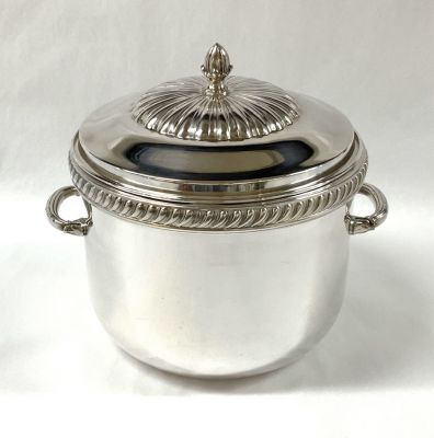 Vintage Silver Plate Ice Bucket and Cover