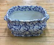 Victorian Ironstone Blue & White Footbath