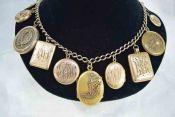 Vintage Lockets & Gold Chain