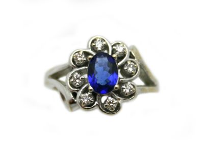 18kt Floral Tanzanite Ring 1 64368 Cynthia Findlay Antiques