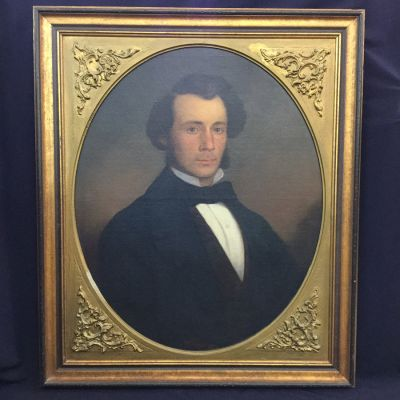 19th century portrait of a Kingston merchant  painted by William Sawyer  dated 1857 g