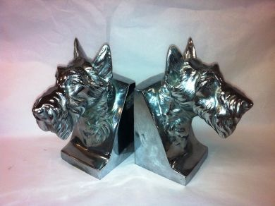 1Assorted/bookends chrome dogs