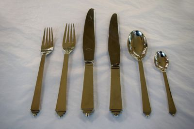 1 Blog/h h may 2015 blogg/Art Deco Danish Silver Flatware  Georg Jensen Pyramid Pattern
