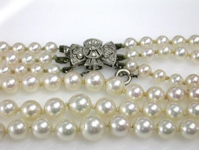 1 Pearls/Triple Strand Pearl Necklace Cynthia Findlay Antiques CFA1205144