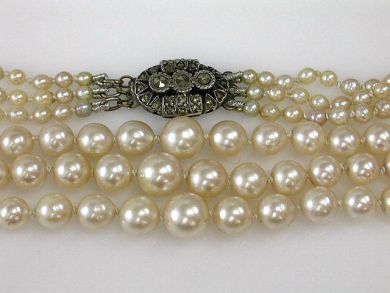1 Pearls/Triple Strand Pearl Necklace Cynthia Findlay Antiques CFA1206152
