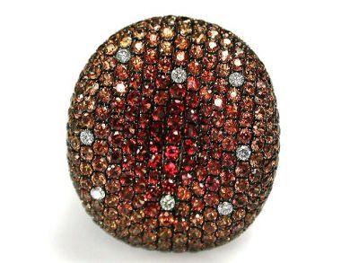 Citrine Cluster Ring