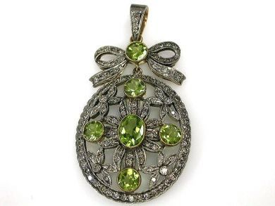 1 Updates/Edwardian Style Peridot Pendant Cynthia Findlay Antiques CFA1211101C