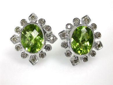 1 Updates/Peridot Stud Earrings Cynthia Findlay Antiques CFA1211102