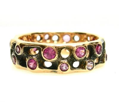 Audrius Krulis Sapphire and Tourmaline Eternity Band