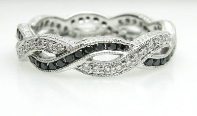 2014 AGL uploaded Oct-Dec/Black and White Diamond Eternity Band AGL48219  018 78493