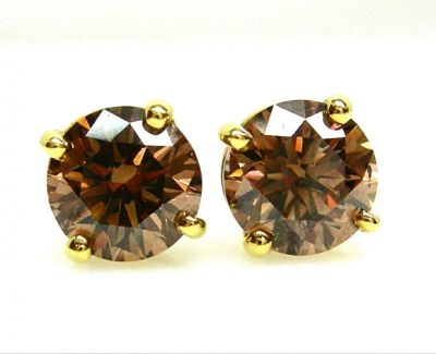2014 AGL uploaded Oct-Dec/Fancy Brown Diamond Earrings AGL47700 043 78383