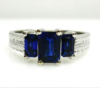 2014 AGL uploaded Oct-Dec/Modern 3 Sapphire Ring AGL48577 78590