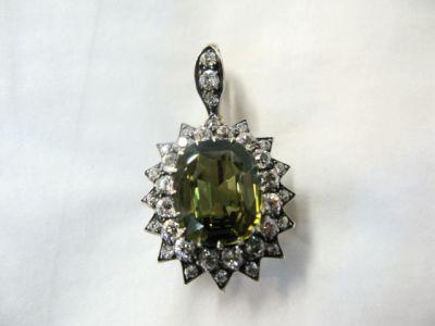 2014 CFA uploaded Oct-Dec/Alexandrite and Diamond Brooch Pendant CFA121222 78920