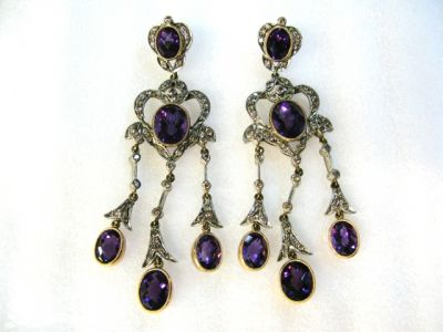 2014 CFA uploaded Oct-Dec/Amethyst and Diamond Earrings CFA1201255 67028