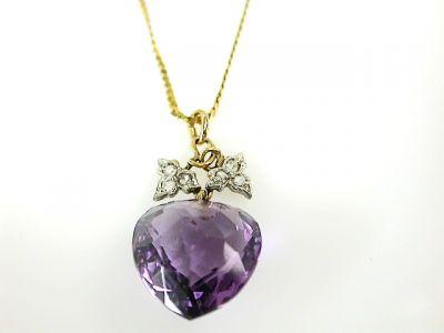 2014 CFA uploaded Oct-Dec/Amethyst and Diamond Pendant CFA131056 73432