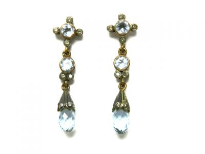 2014 CFA uploaded Oct-Dec/Aquamarine and Diamond Earrings CFA140806 78463