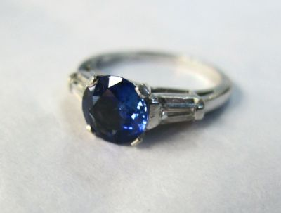 2014 CFA uploaded Oct-Dec/Art Deco Inspired Sapphire and Diamond Ring AGL45565 75394