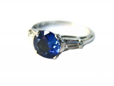 2014 CFA uploaded Oct-Dec/Art Deco Inspired Sapphire and Diamond Ring AGL45565 75394aa