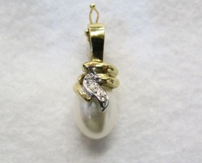 2014 CFA uploaded Oct-Dec/Baroque Pearl and Diamond Pendant Enhancer CFA1311392 74011