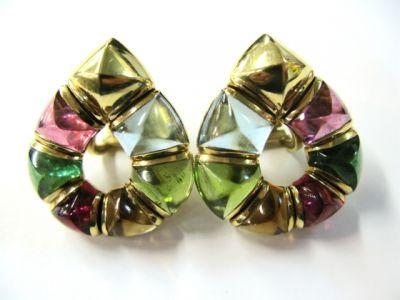 Bulgari Multi Gemstone Earrings