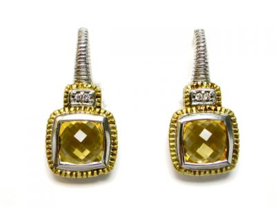 2014 CFA uploaded Oct-Dec/Citrine and Diamond Earrings CFA140266 74824