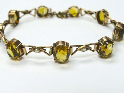 2014 CFA uploaded Oct-Dec/Citrine and Pearl Bracelet CFA140734 78276