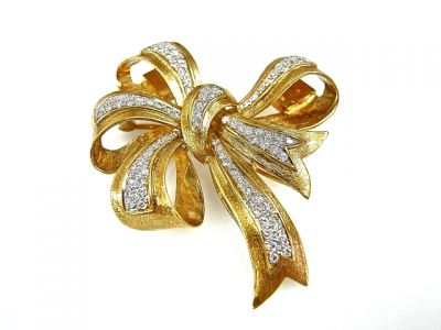 2014 CFA uploaded Oct-Dec/Diamond Bow Brooch CFA1407336 78440