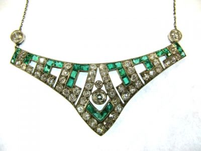 2014 CFA uploaded Oct-Dec/Emerald and Diamond Necklace CFA1407158 78458