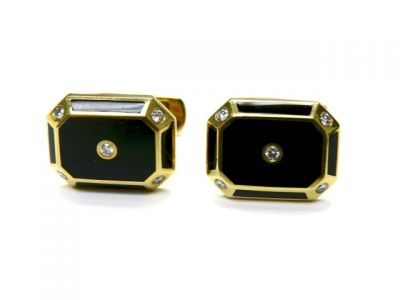 2014 CFA uploaded Oct-Dec/Onyx and Diamond Cufflinks CFA140831 78505