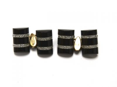 2014 CFA uploaded Oct-Dec/Onyx and Diamond Cufflinks CFA140833 78507
