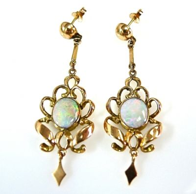 2014 CFA uploaded Oct-Dec/Opal Drop Earrings CFA141026 78704