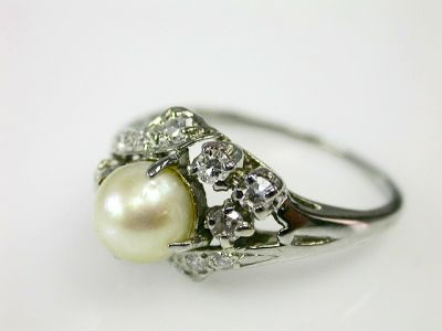 2014 CFA uploaded Oct-Dec/Pearl and Diamond Ring Cynthia Findlay Antiques CFA1302121 70565
