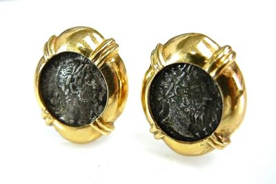 2014 CFA uploaded Oct-Dec/Roman Coin Earrings CFA1405143 77813B