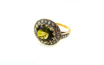 2014 CFA uploaded Oct-Dec/Tourmaline and Diamond Ring CFA1404127 75508