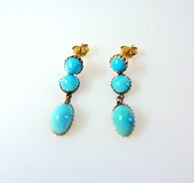 2014 CFA uploaded Oct-Dec/Turquoise Drop Earrings CFA140692 78084