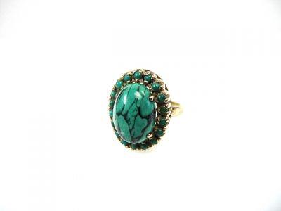 2014 CFA uploaded Oct-Dec/Turquoise Halo Ring CFA140693 78085