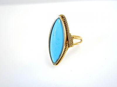 2014 CFA uploaded Oct-Dec/Turquoise Solitaire Ring CFA140674 78043