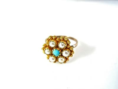 2014 CFA uploaded Oct-Dec/Turquoise and Pearl Ring CFA140667 78036