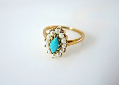 2014 CFA uploaded Oct-Dec/Turquoise and Pearl Ring CFA140668 78037