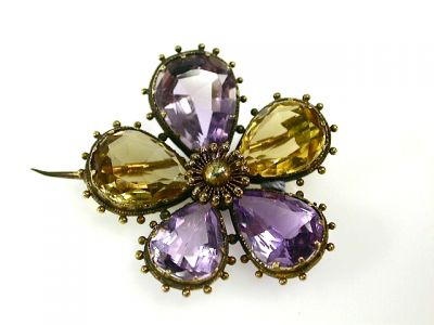 2014 CFA uploaded Oct-Dec/Victorian Amethyst and Citrine Brooch CFA131058 73430