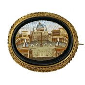 Micro Mosaic Brooch St. Peter's Cathedral Rome
