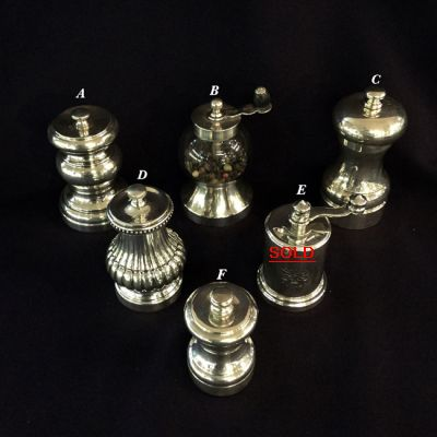 2015 - products/Antique and Vintage Silver Salt and Pepper mMills a